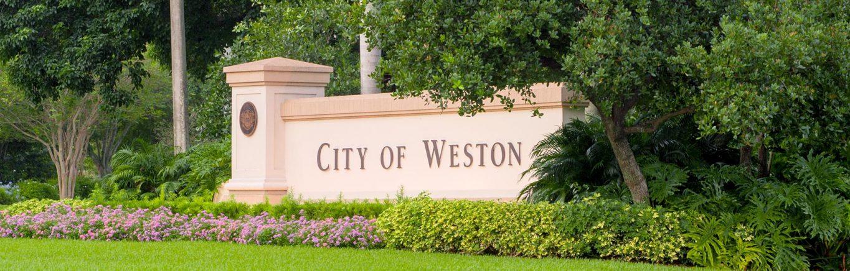 context sensitive signage city of Weston