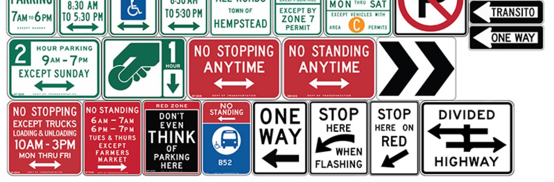 street signs list